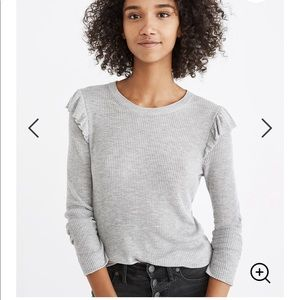 Madewell Ruffle Sleeve Pullover Sweater Blouse